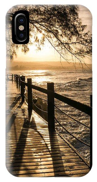 Sunset Over Ocean Walkway IPhone Case