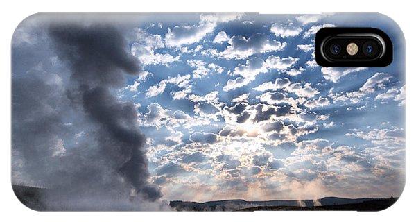 Sunset Over Old Faithful - Horizontal IPhone Case