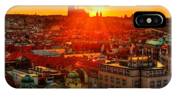 Sunset Over Prague IPhone Case