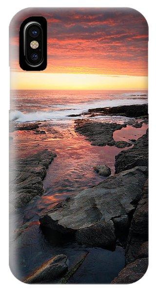 Rocky iPhone Case - Sunset Over Rocky Coastline by Johan Swanepoel