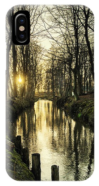 Sunset Over Stream IPhone Case