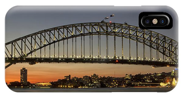 Sunset Over Sydney Harbour Bridge Phone Case by Kevin Hellon