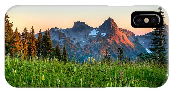 Sunset Over Tatoosh IPhone Case