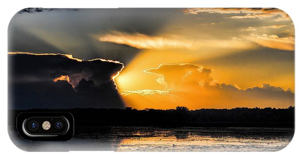 Sunset Over The Mead Wildlife Area IPhone Case