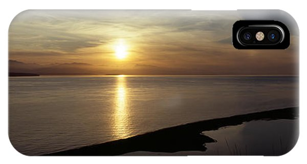 Whidbey iPhone Case - Sunset Over The Sea, Ebeys Landing by Panoramic Images