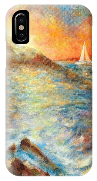 Sunset Over The Sea. IPhone Case