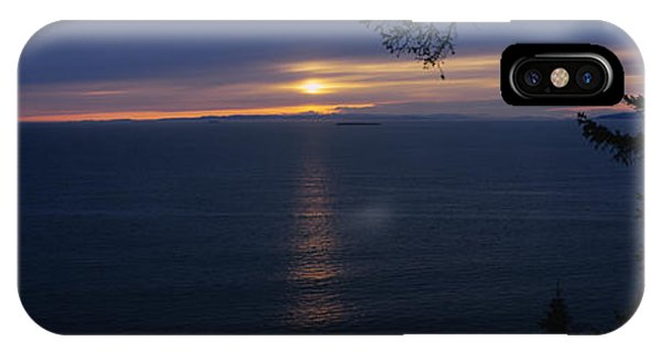 Whidbey iPhone Case - Sunset Over The Sea, Strait Of Juan De by Panoramic Images
