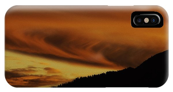 iPhone Case - Sunset Over The Sierra-nevada Mountains by Nancy Marie Ricketts