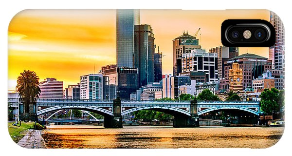 Seagull iPhone Case - Sunset Over The Yarra by Az Jackson