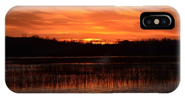 Sunset Over Tiny Marsh IPhone Case