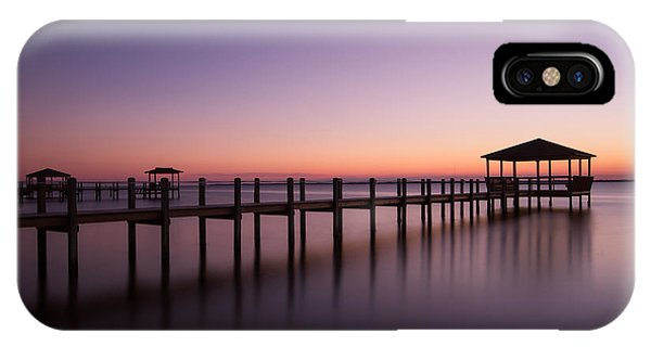 Sunset Over Town Of Duck IPhone Case