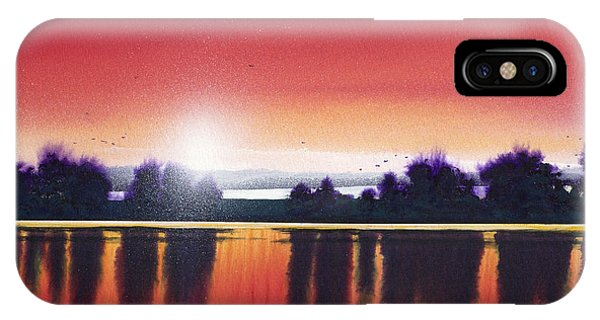 Sunset Over Two Lakes IPhone Case