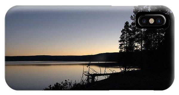 Sunset Over Yellowstone Lake IPhone Case