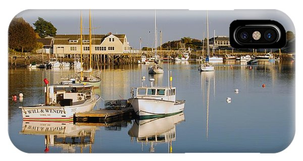 Sunset Over York Harbor IPhone Case