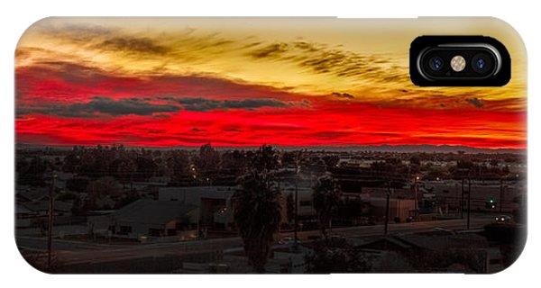 Sunset Over Yuma IPhone Case