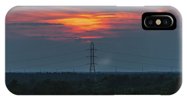 Sunset Power Over Pine Barrens Nj IPhone Case