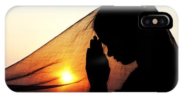 Divine Love iPhone Case - Sunset Prayers by Tim Gainey
