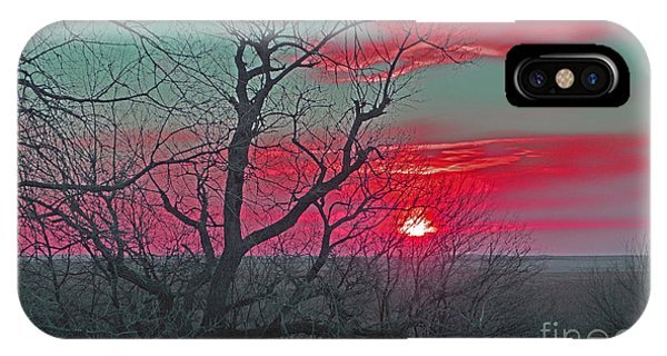 Sunset Red IPhone Case