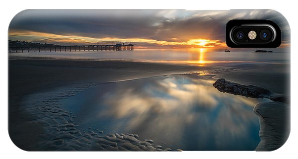 Sunset Reflections In San Diego Landscape Version Phone Case by Larry Marshall