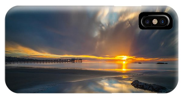 Sunset Reflections In San Diego Square Version Phone Case by Larry Marshall