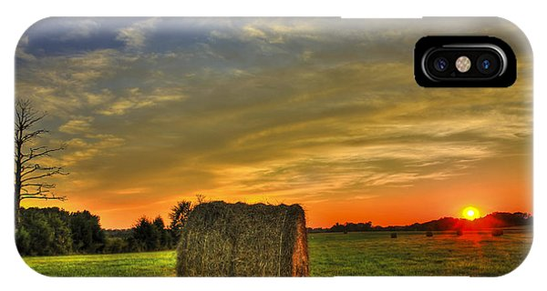 Sunset Round Bale Lick Skillet Road IPhone Case
