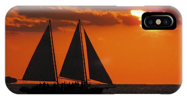 Key West Sunset Sail 3 IPhone Case