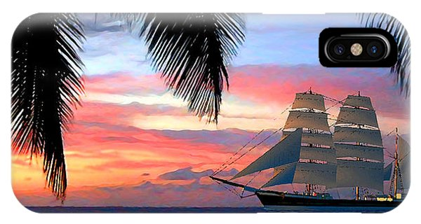 Sunset Sailboat Filtered IPhone Case