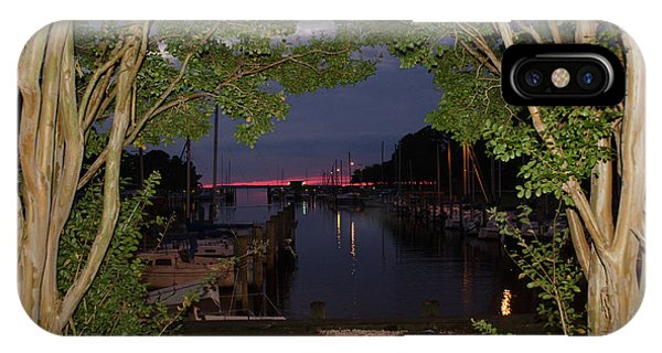 IPhone Case featuring the photograph Sunset Sailboat Frame by Kelly Reber