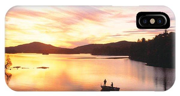 Sunset Saranac Lake Franklin Co IPhone Case