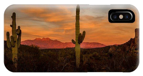 Sunset Sentinels IPhone Case