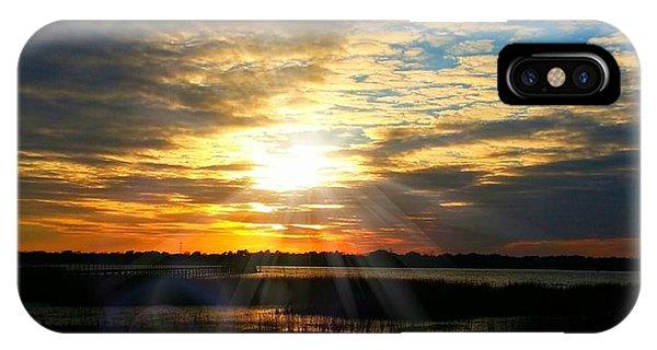 Sunset Sets Off Cloud Explosion IPhone Case