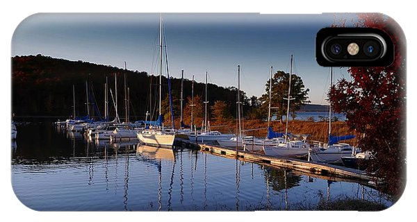 Sunset Setting At The Marina IPhone Case