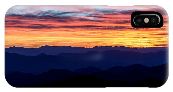 Sunset Silhouette On The Blue Ridge Parkway IPhone Case