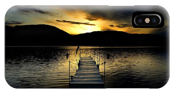 Sunset Skaha Lake IPhone Case