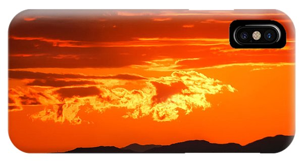 Sunset Sky Fire Phone Case by Kirk Strickland