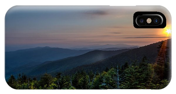 Sunset Smokey Mountains  IPhone Case