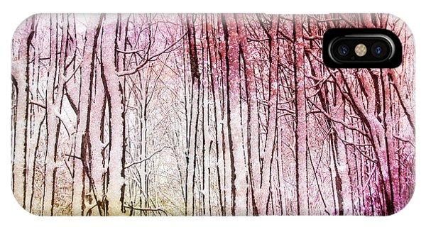 Sunset Snow Twigs IPhone Case
