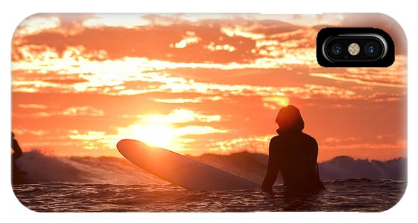 Sunset Surf Session IPhone Case