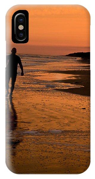 Sunset Surfer Hilton Head Sc IPhone Case