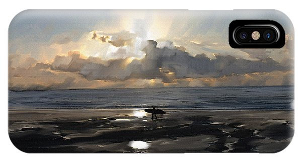 Sunset Surfer Phone Case by Roger Lighterness
