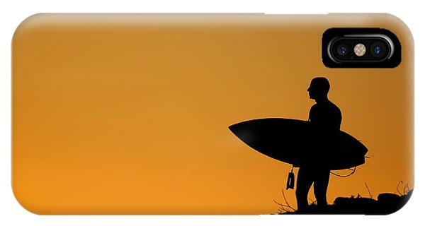 Sunset Surfing IPhone Case