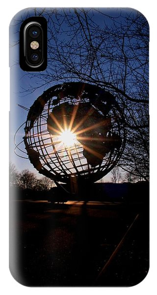 Sunset Through The Unisphere IPhone Case