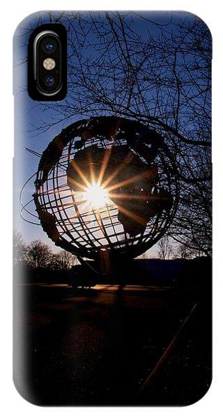 Sunset Through The Unisphere IPhone Case