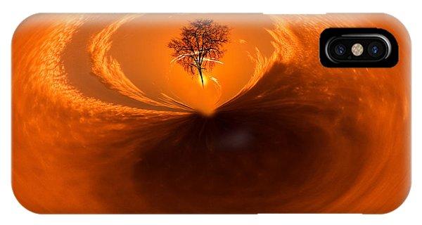 Sunset Tree Artwork IPhone Case