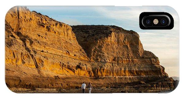 Sunset Walk At Flat Rock  La Jolla California IPhone Case