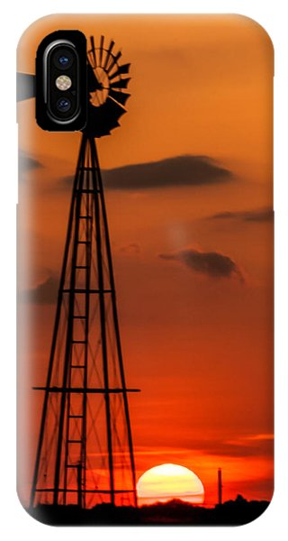 Sunset Windmill IPhone Case