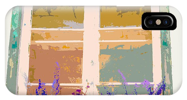 Sunset Window With Flowers IPhone Case