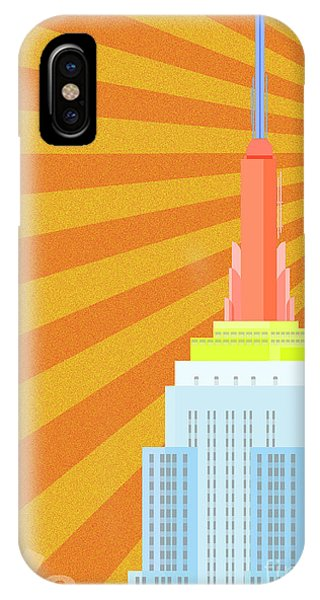 Empire State Building iPhone Case - Sunshine City by Nishanth Gopinathan