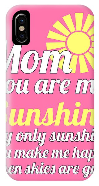 Sunshine Mom - Pink Background IPhone Case