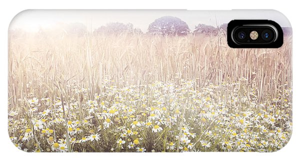 Sunshine Over The Fields Phone Case by Natalie Kinnear